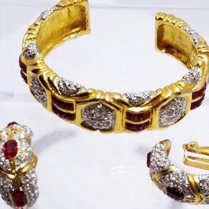 Vintage art deco Kollmar & Jourdan Bracelet set